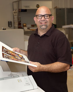 Mr. Borelli, Printing and Graphic Communications instructor