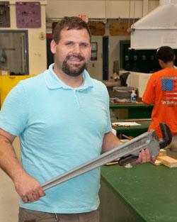 Mr. Gardecki, Plumbing and Heating instructor