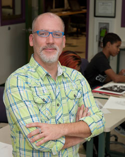 Mr. Simons, Advertising Design and Commercial Art instructor
