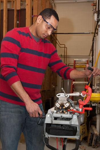 adult plumbing student