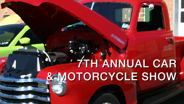 7th annual car & motorcycle show title slide