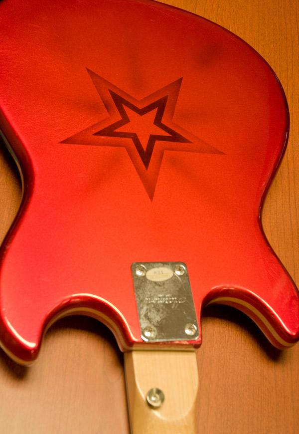 Back of repainted guitar