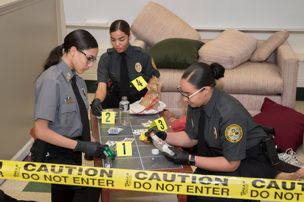 PSS students simulate a crime scene investigation